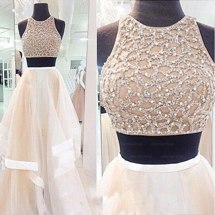 112d603d13 Beaded Bodice 2 Pieces Prom Dress