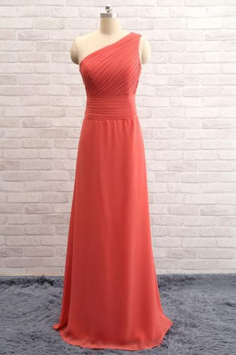 2017A-line Asymmetric Open-back Sleeveless Simple Bridesmaid Dresses ABC00020